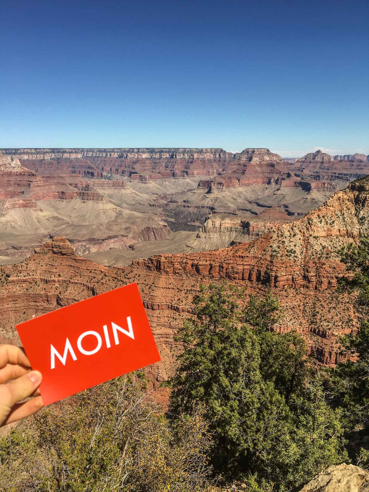 MOIN vom Grand Canyon in Arizona
