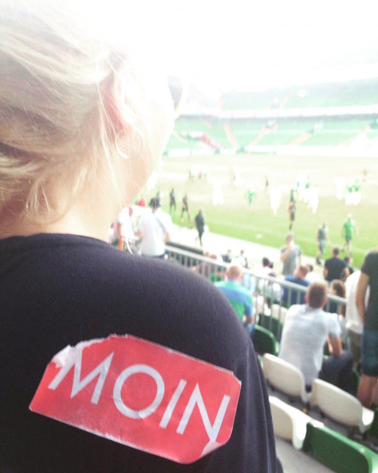 MOIN Sticker im Weser Stadion Bremen