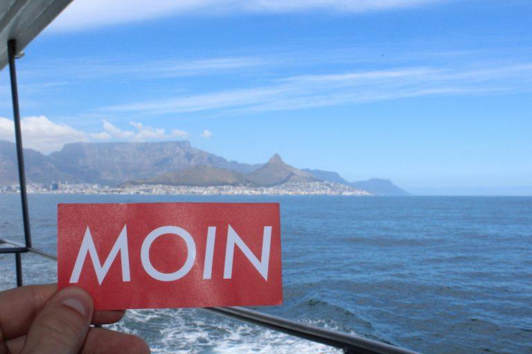MOIN Sticker in Kapstadt, Süd Afrika