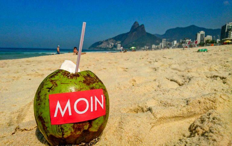 MOIN Sticker in Rio de Janeiro, Brasilien